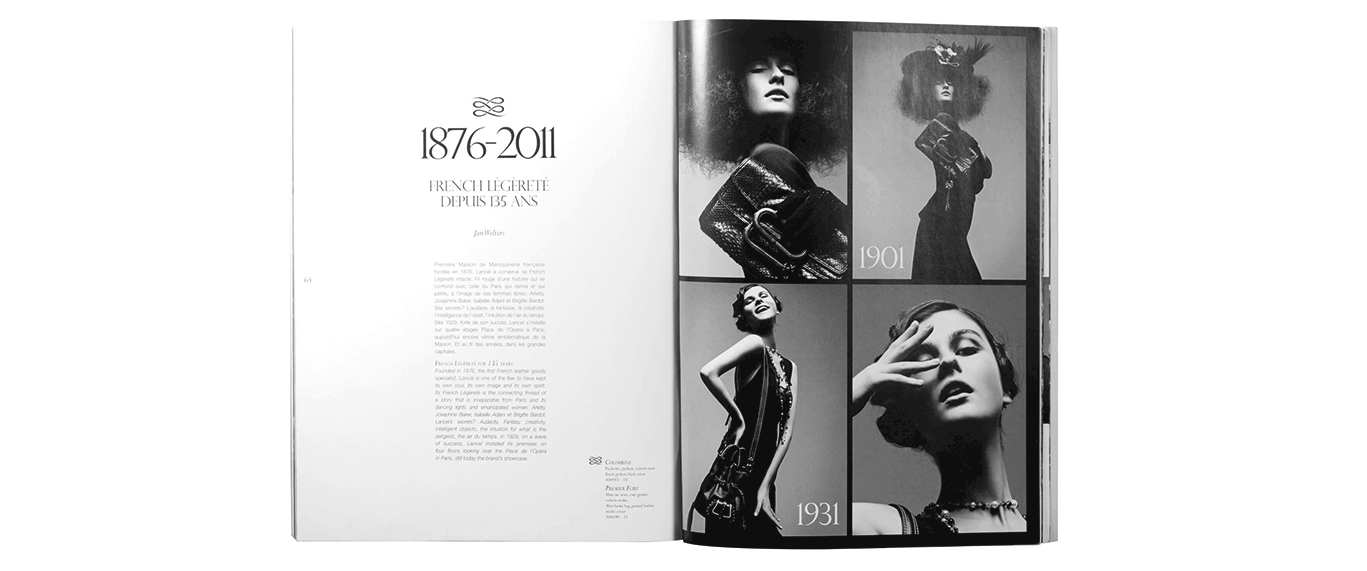 magazine ouvert french elegance