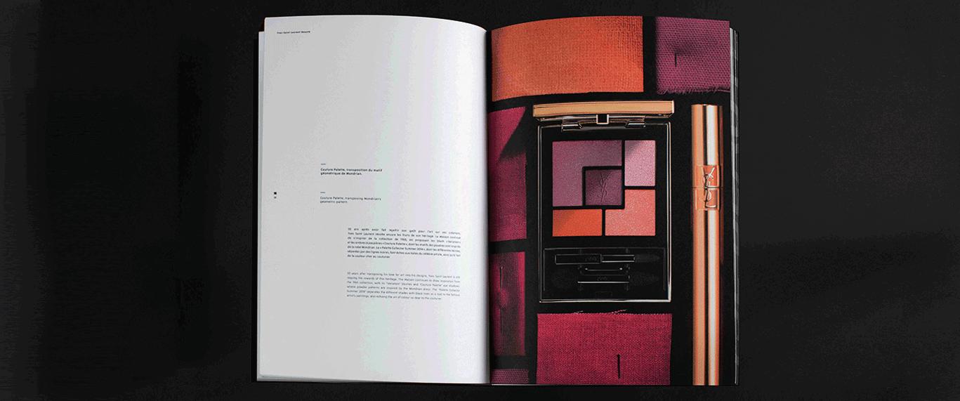 livre exception ouvert ysl beaute palette mascara