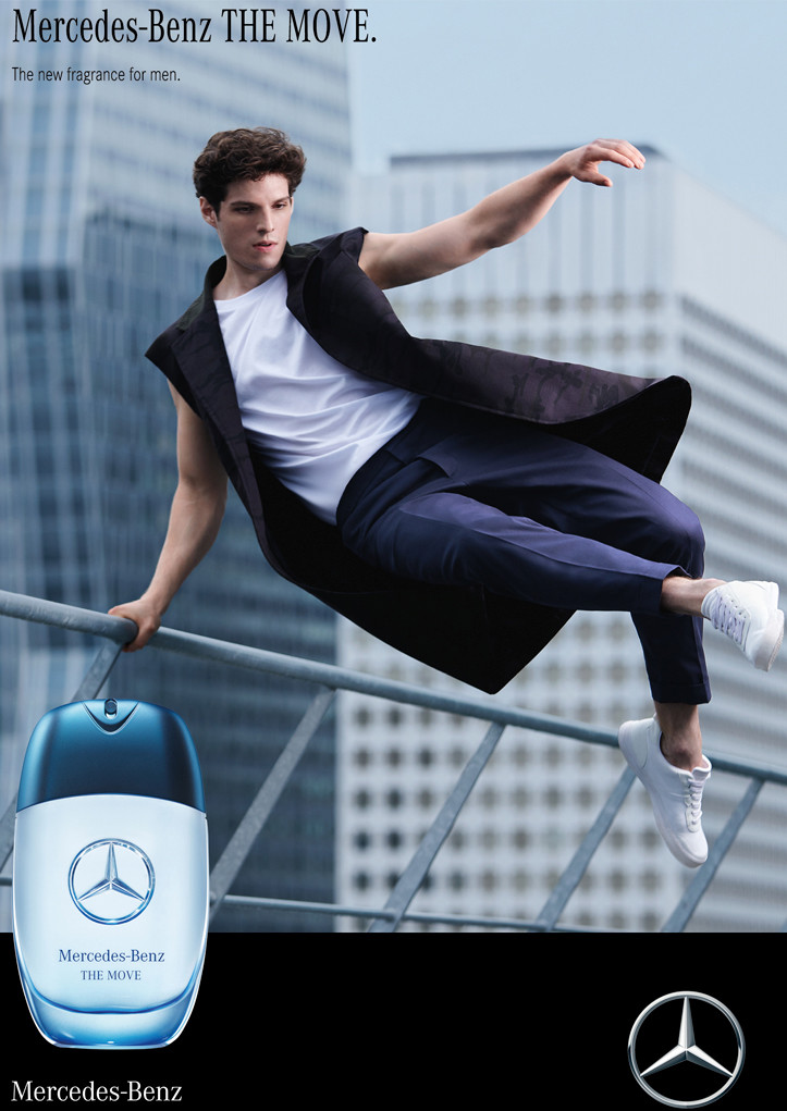 campagne affichage the move mercedes benz parfum