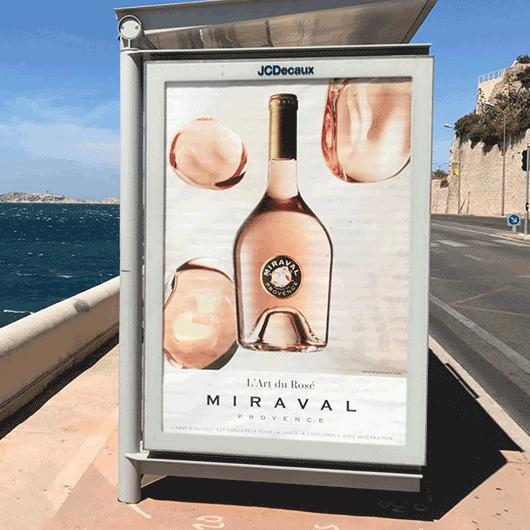 Affiche Miraval L'art du Rose abribus
