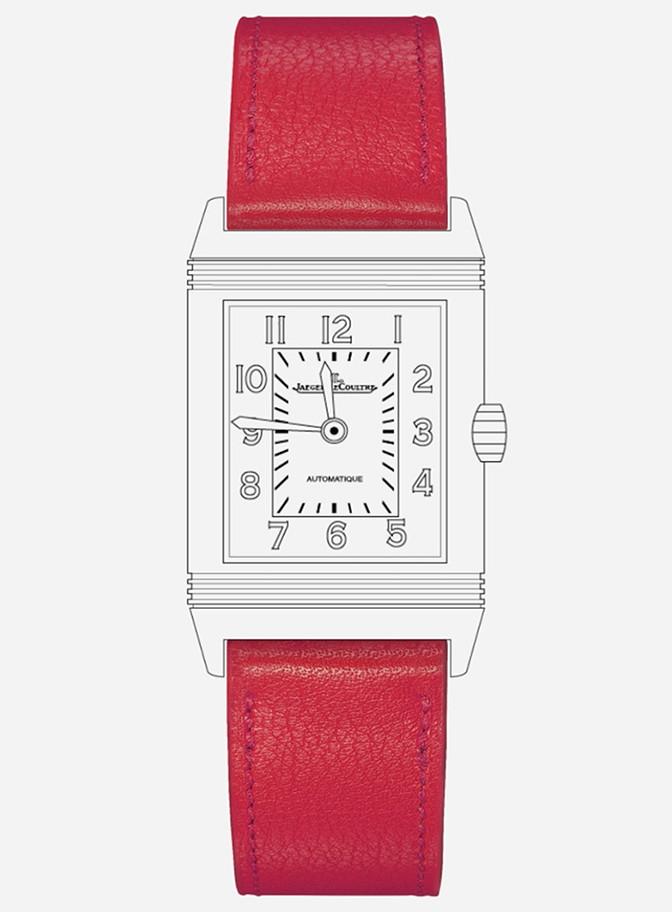 montre reverso jaeger lecoultre bracelet rouge