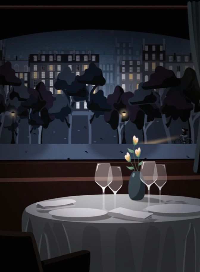 amination restaurant video yacht paris