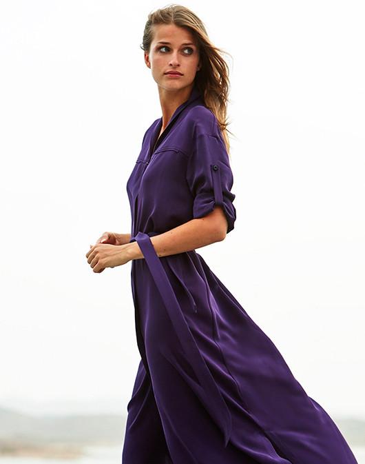 robe violette maison ullens collection printemps ete