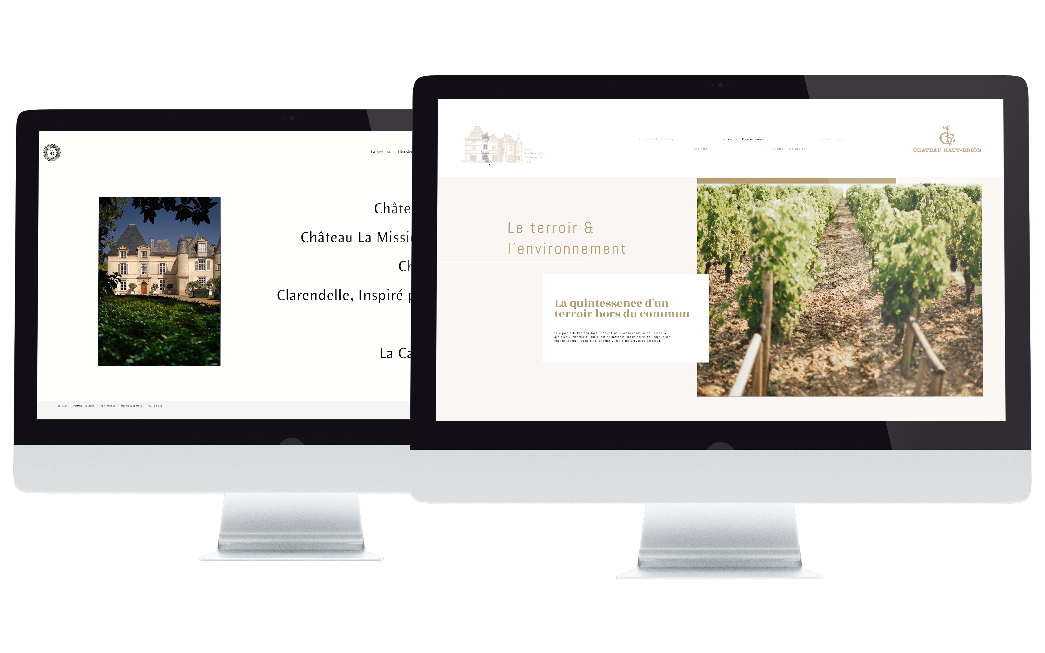 Mockup Sites Domaine Clarence Dillon