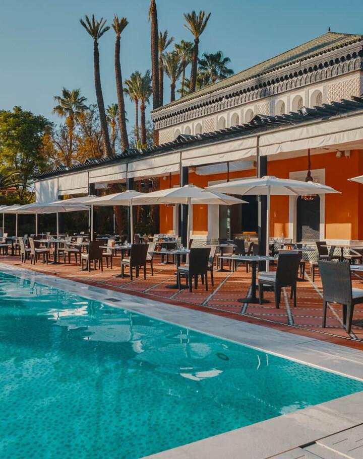 La piscine et la terrasse de La Mamounia